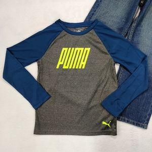 Boys Puma Lightweight Long Sleeve Top